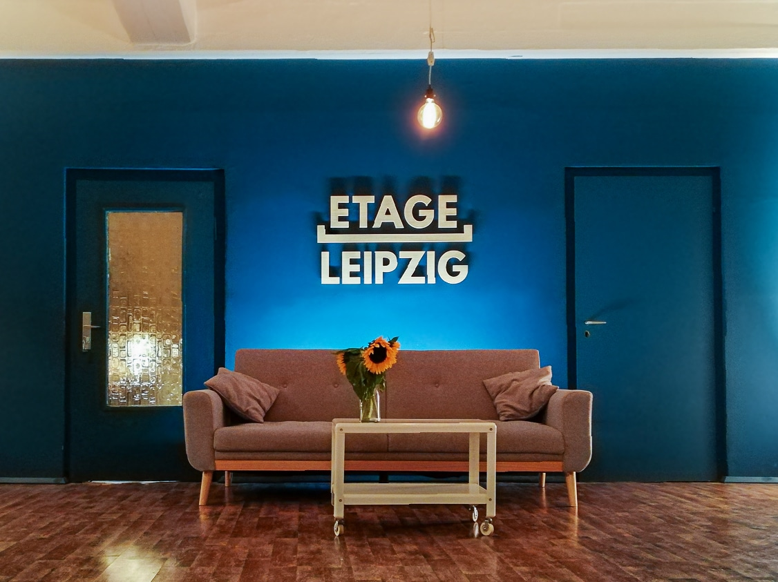 Entspannen in einer unserer Chill-Ecken in der Etage Leipzig
