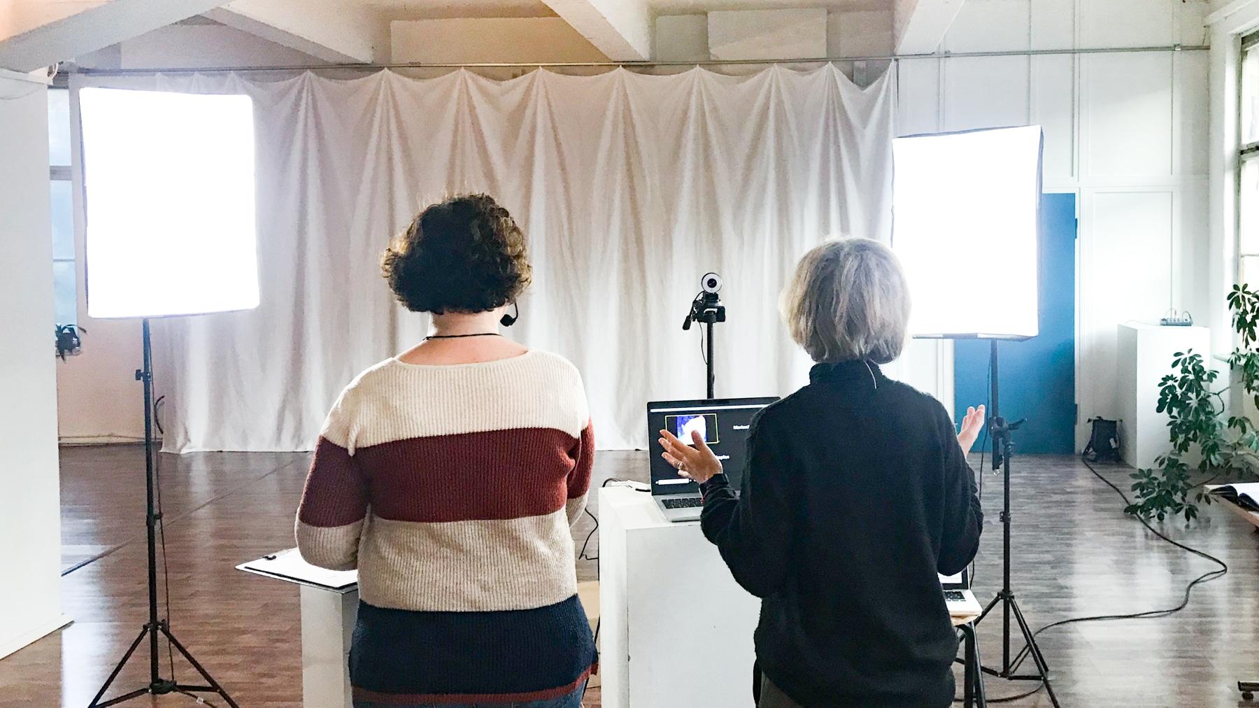 Etage Leipzig als Livestream Studio für Webinare, Workshops und mehr...
